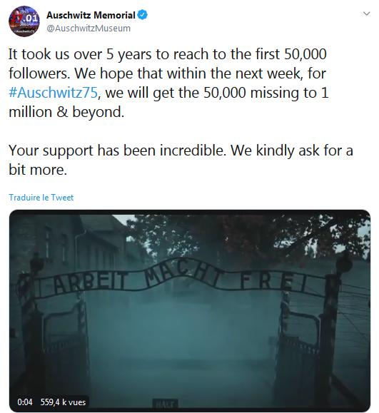 Auschwitz ou le grand malaise : Humeurs de mémoire, 26 janvier 2020